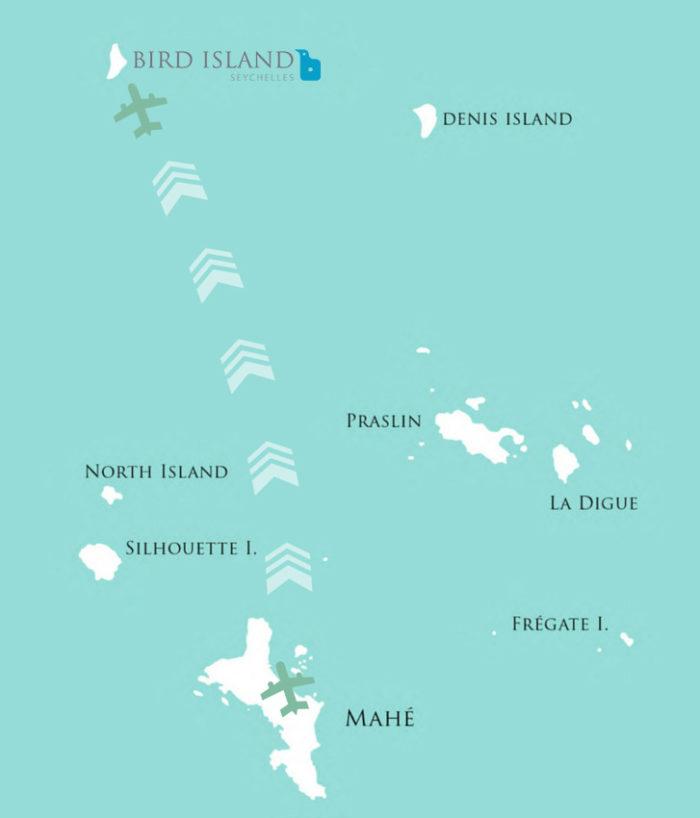 Bird Island Seychelles Route Map