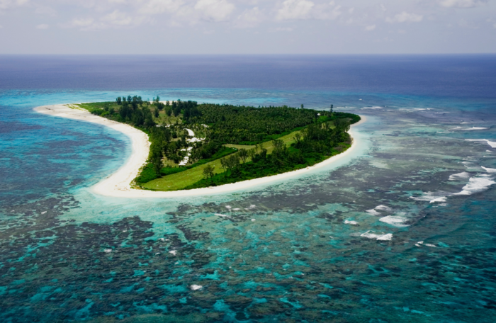 Bird Island aerial view from the south