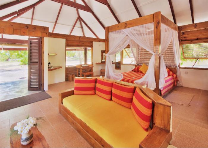 Bedroom Interior at Bird Island Seychelles