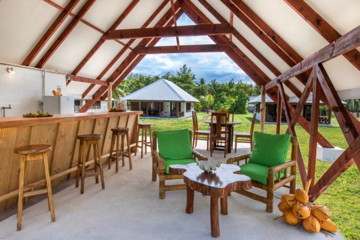 Kitchen-Bar-Lounge of a Bird Island Seychelles Villa